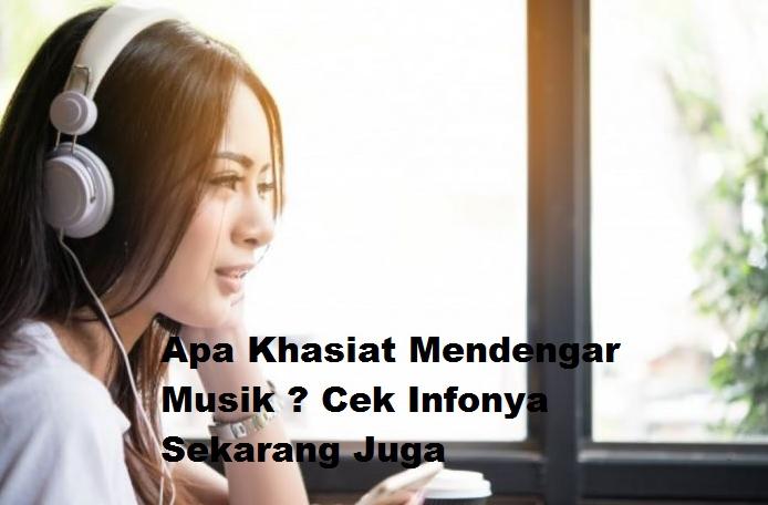 3 Khasiat Saat Mendengar Musik